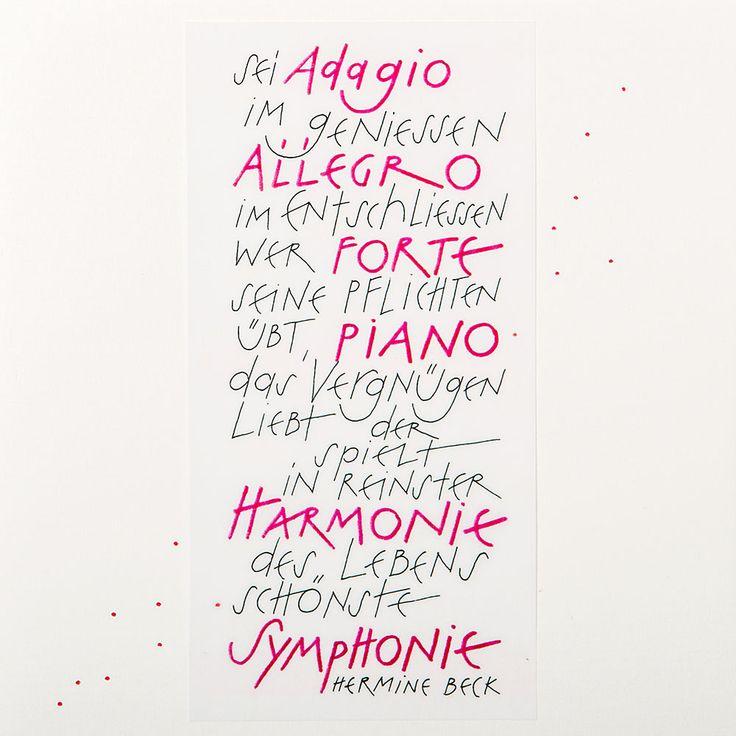 Sei Adagio Im Geniessen Allegro Im Entschliessen Geburtstag Musik Geburtstag Karte Karten Gestalten