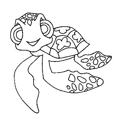 squirt coloring finding nemo page | Squirt - turtle | Pinterest ...