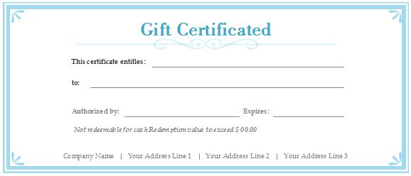 Free Gift Certificate Templates Customizable And Printable Within Custom Gift Free Gift Certificate Template Gift Certificate Template Certificate Templates
