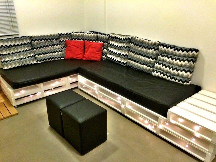 Elegant Pallet Sectional Sofa | 99 Pallets