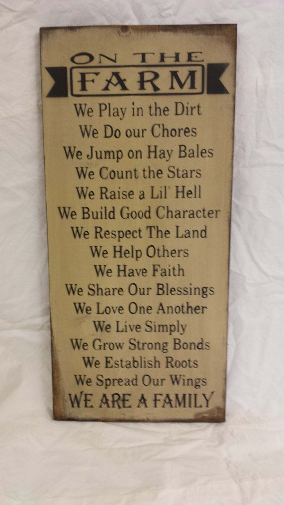 On The Farm Wood Sign by SignShed on Etsy, $34.95