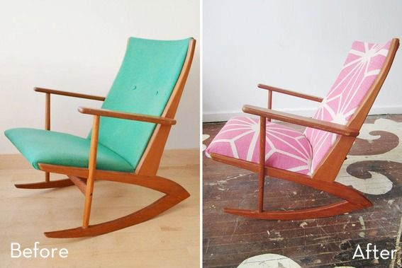Roundup: 12 Amazing Chair Upholstery Makeovers » Curbly | DIY Design & Decor