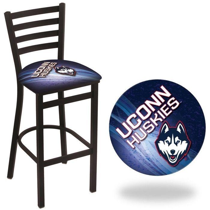 UConn Huskies D2 Stationary Ladder Back Bar Stool. Visit SportsFansPlus.com for Details.
