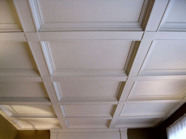 10 best faux coffered ceiling ideas images on pinterest for Coffered ceiling styles