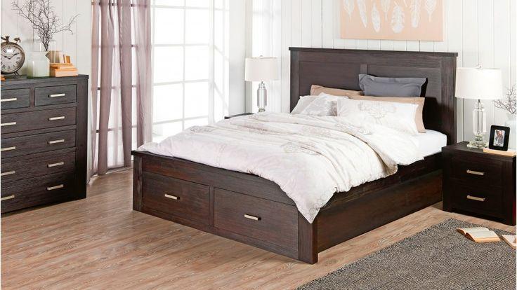 Rustic 4 piece queen bedroom suite beds suites for Bedroom furniture queensland