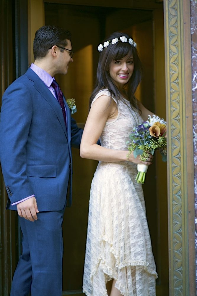 Nyc city hall wedding french courtship slip by free for City hall wedding dresses nyc