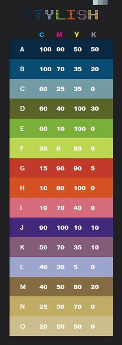 color guide sample 2