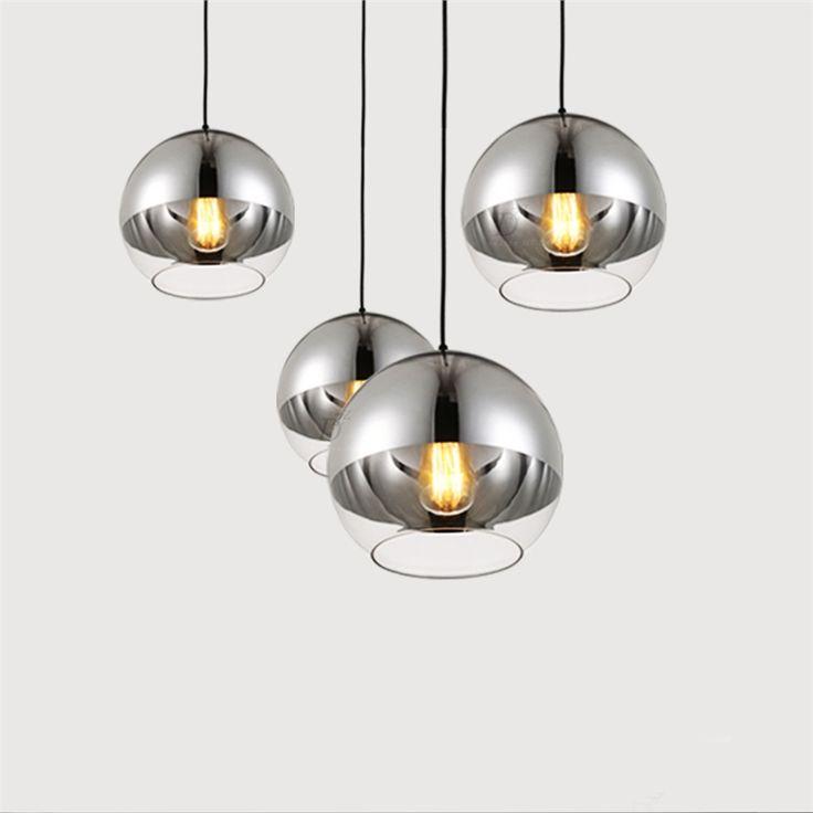 Eu lager pendelleuchte modern glas eisen galvanisiert 1 for Gunstige esszimmer lampen