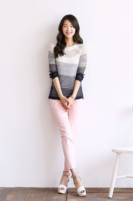 Korean style - soft pink pants | Korean Style Outfit | Pinterest | Girl swag Pants and Fashion ...