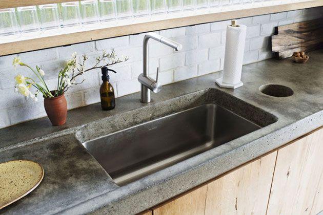 338 best cocinas kitchen images on pinterest for Cocinas integrales de cemento