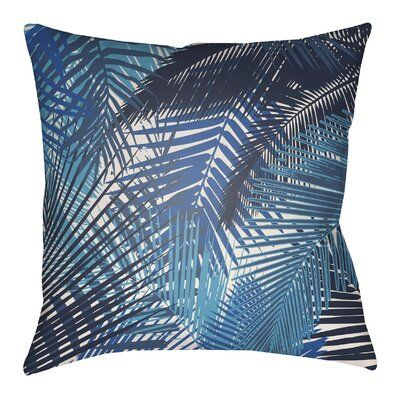 Sol 72 Outdoor Suffolk Palm Indoor/Outdoor Throw Pillow Color: Lime Green/Olive Green, Size: 22″ H x 22″ W