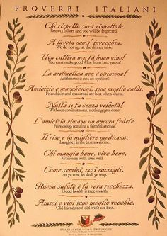 Learning Italian - Italian proverbs