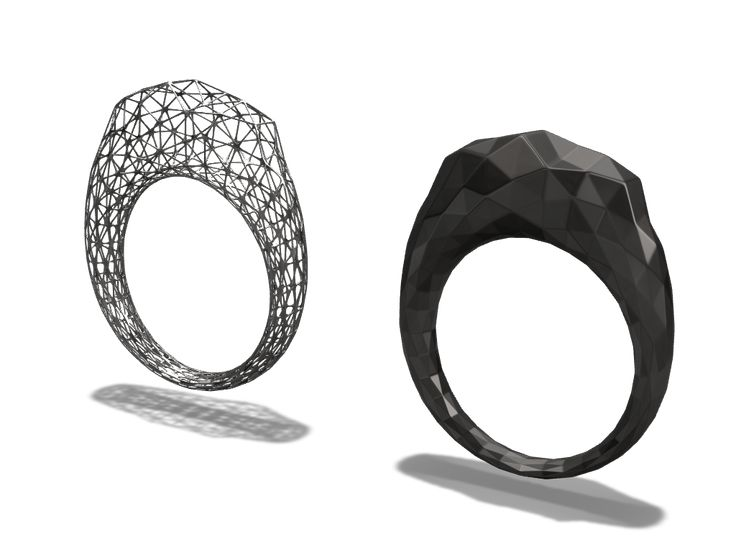 Rings created with Vectary and ready for 3D printing #ring #3Dprint #jewelry #design  Click to download or customize them for free.