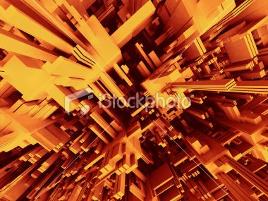 3D Abstract Modern Structure #istock