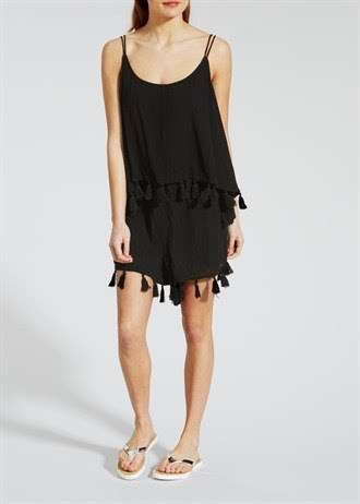 Two Layer Tassel Playsuit