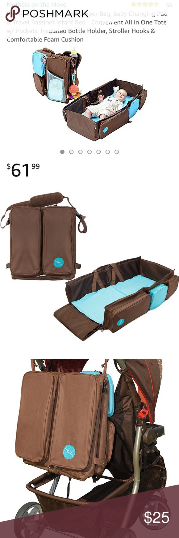 Baby diaper bag and bassinet Brand new brown diaper bag, changing Matt and portable bassinet Other