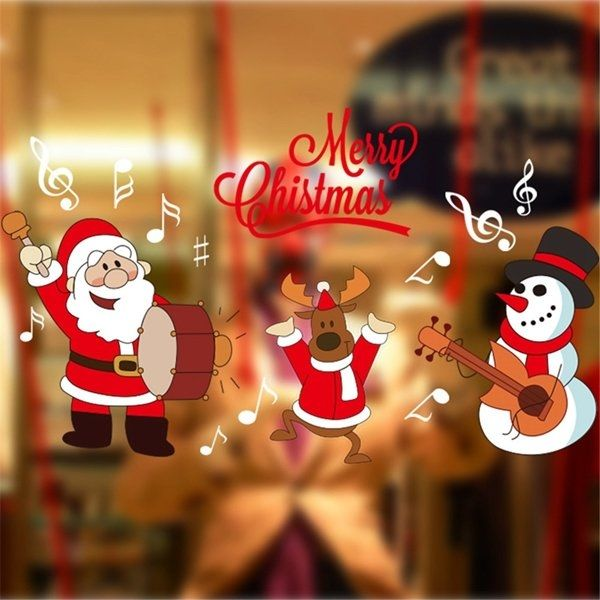 DIY Bricolaje Etiqueta Pegatina Pared Navidad Decoración Hogar Navidad Padrón de Papá Noel Decoración Para Ventana Vidrio Decora Pared #etiqueta #sticker #pegatina #adhesivo #navidad #christmas #decoracion #decoración #decoration #decora #atmosphere #ambiente #atmósfera #hogar #casa #home #homedecoration #fiesta #party #feriado #tmart #Tmart #snow #reindeer #reno #santaclaus #papanoel #snowman #muñecodenieve #música #DIY #bricolaje