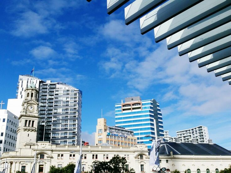 Those striking aluminium fins framing a stunning Auckland day