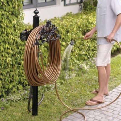 Classic filigree hose station 129 better pricing on this for Outdoor pool sculptures