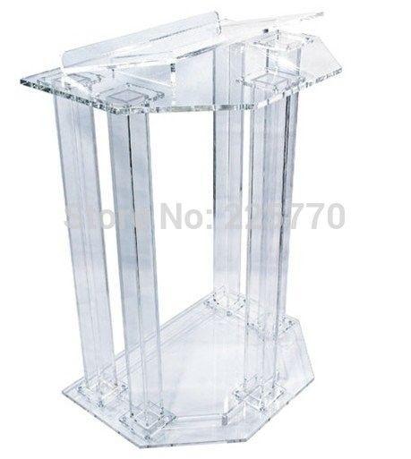 Hot sale Fre Shiping Disesuaikan Acrylic Church Podium/Mimbar/Podium/podium Podium gereja murah