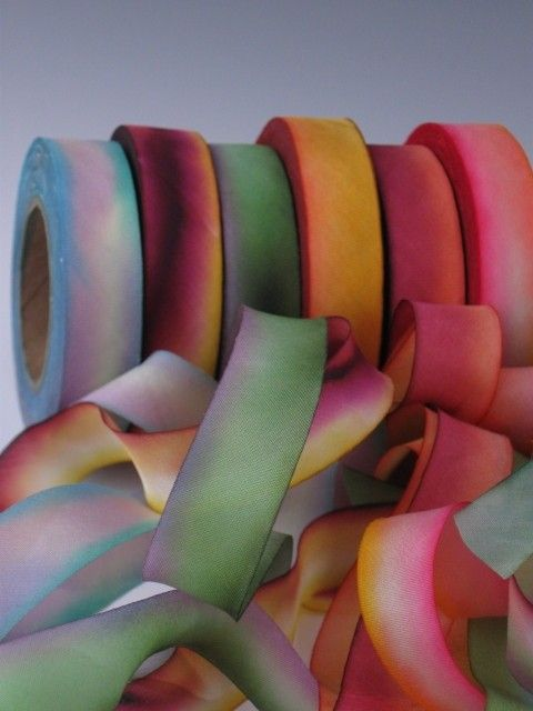 Hanah Silk Ribbon is 100% Silk Ribbon.  Yummy....I use this beautiful silk ribbon in my artwork. Gorgeous hand dyed silk ribbon colors make these a