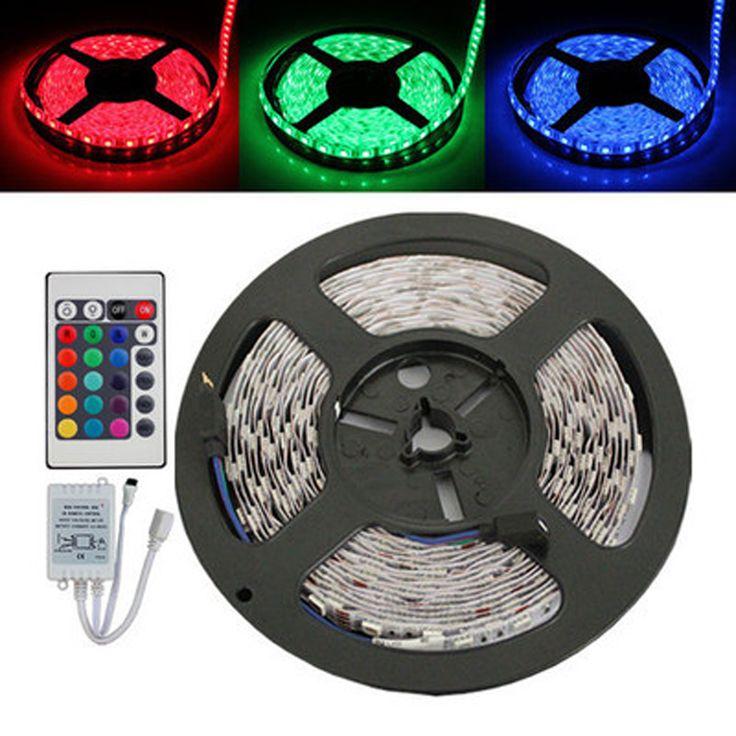 5050 non-Waterproof RGB 60 LED STRIP 12v 5M  led Strip Light + 24 Key IR Controller+ RGB Control Box