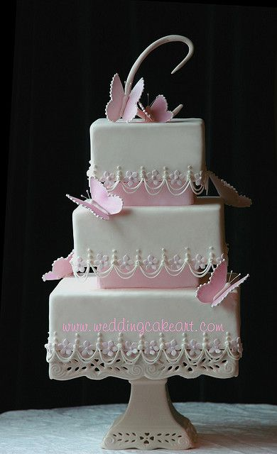 The Butterflies are gum paste - weddingcakeart.com