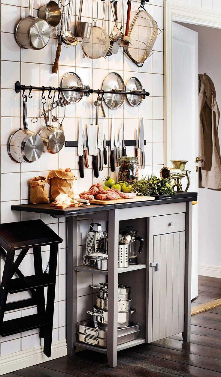 Ideas sencillas para organizar una cocina pequeña