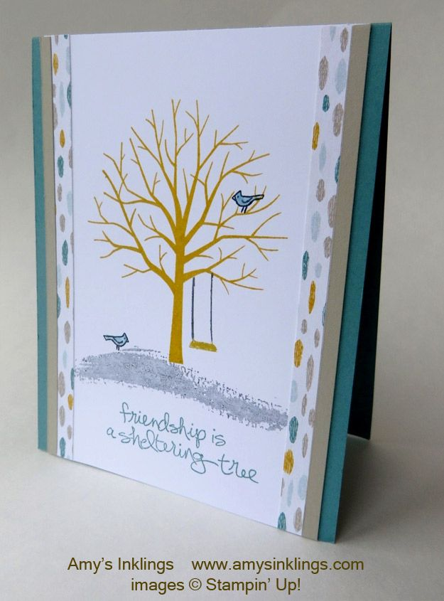Did that work? No, not really but I couldn't help myself. :) Stampin' Up! has finally unveiled its Occasions and Sale-A-Bration (SAB) catalogs and Sheltering Tree is already a rising star! You've a...