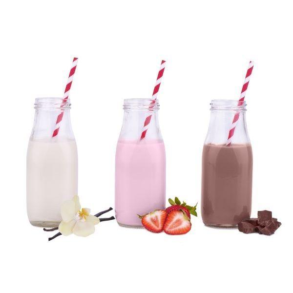 Butelka szklana do lemoniady, milkshake`ów pojemność 250 ml dowarzyw.pl