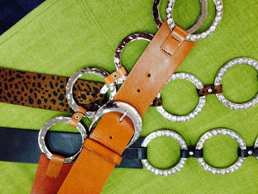 Complete your outfit with a beautiful leather belt! #thecrystalslipper #belt