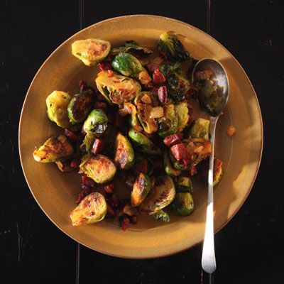 Brussels Sprouts with Chorizo Recipe | SAVEUR