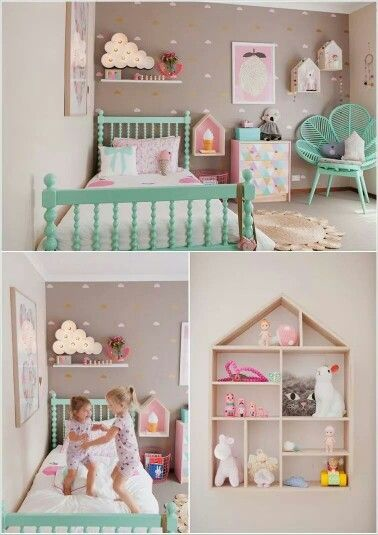 Girl's bedroom - perfect wall and accent colors