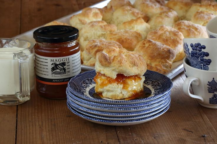 Scones with Maggie's Orchard Apricot Jam
