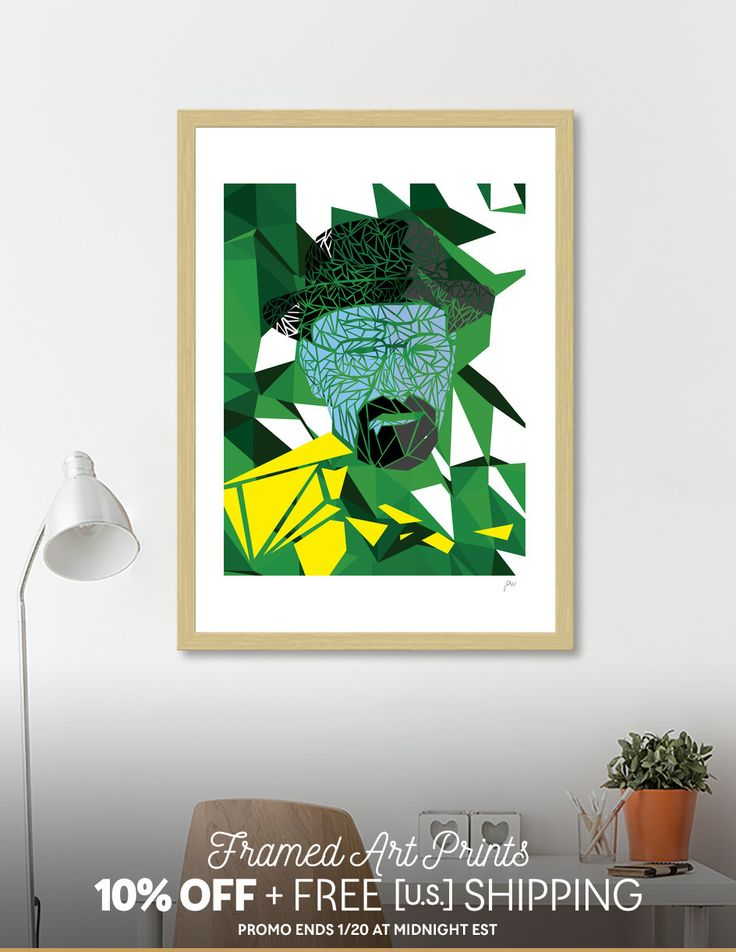 Discover «Breaking bad - Heisenberg», Exclusive Edition Fine Art Print by Omar Gonzalez - From 29€ - Curioos