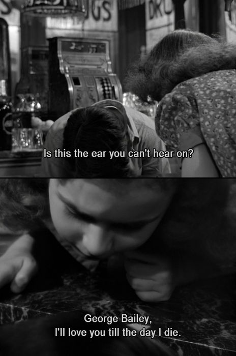 It's a Wonderful Life . . . this scene is too cute.