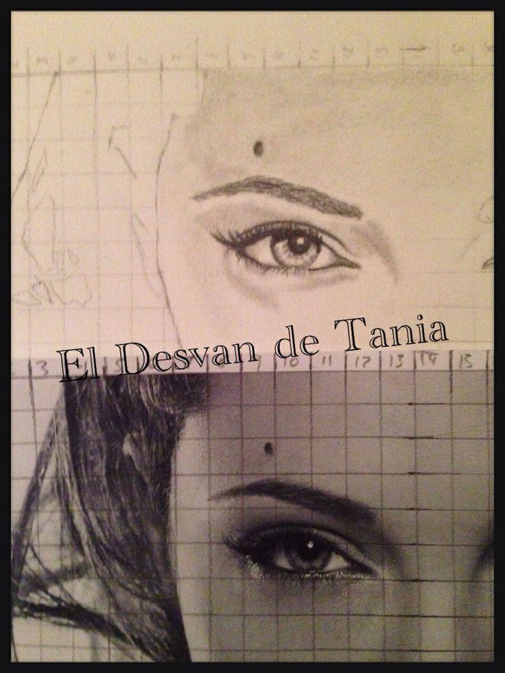 Paso 2 Angelina Jolie a lápiz! Eldesvandetania.blogspot.com Facebook: el desvan de Tania  Twitter @El Desván De Tania