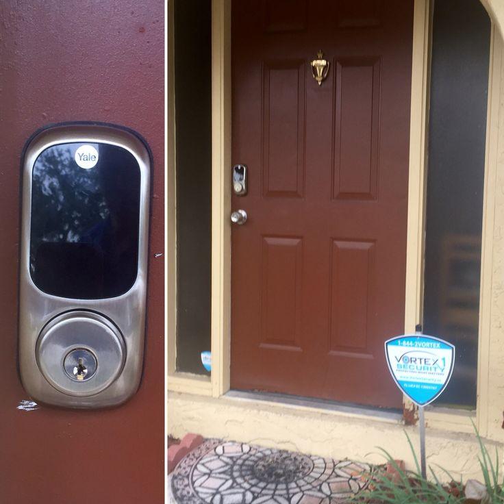 z wave door locks control your door lock and your alarm system vortex security south florida