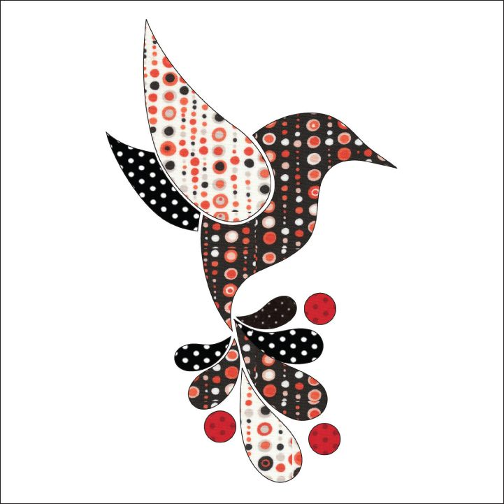 (7) Name: 'Quilting : Applique Add On's -Hummingbird