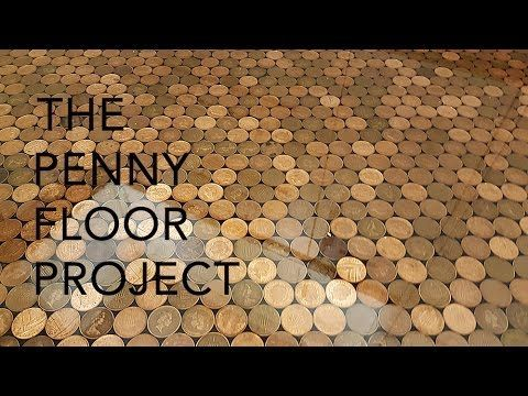 The UK Penny Floor Project | How we took 27,000 1p coins and created a penny floor - YouTube