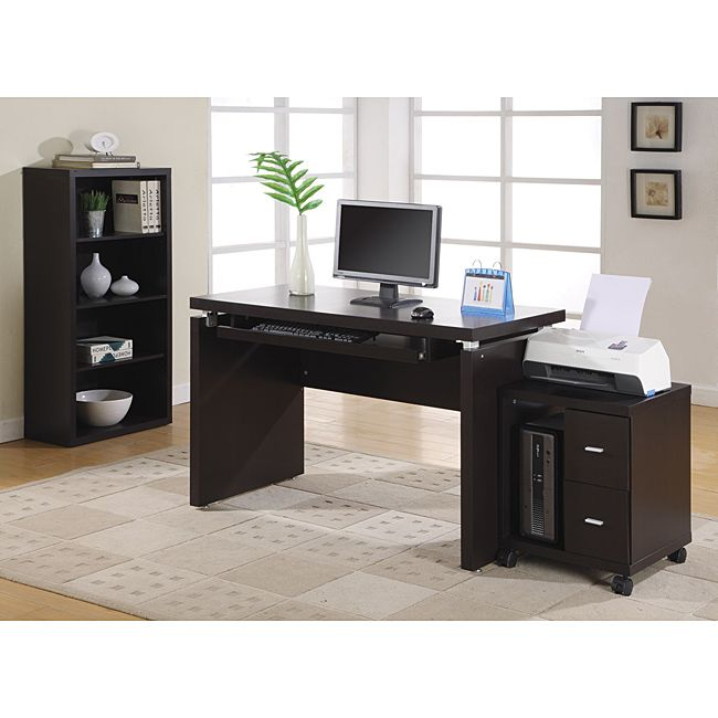Cappuccino 48 inch Long puter Desk