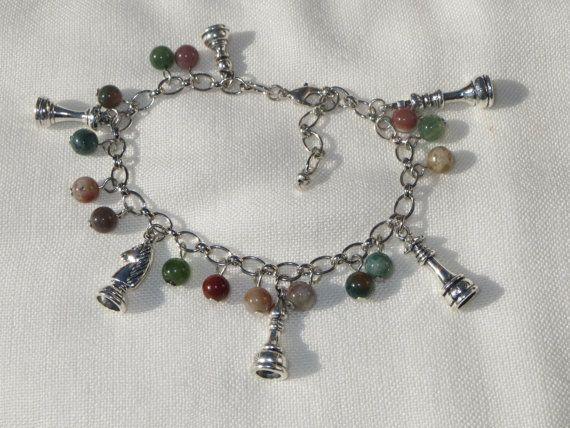 Chess Bracelet Chess Gift Chess Jewelry Knight Bracelet by Thielen