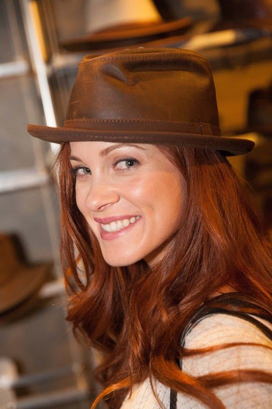 Gillian Alexy known for, McLeod's Daughters, West, Parallax. (wearing a Soho by Ashbury hats)