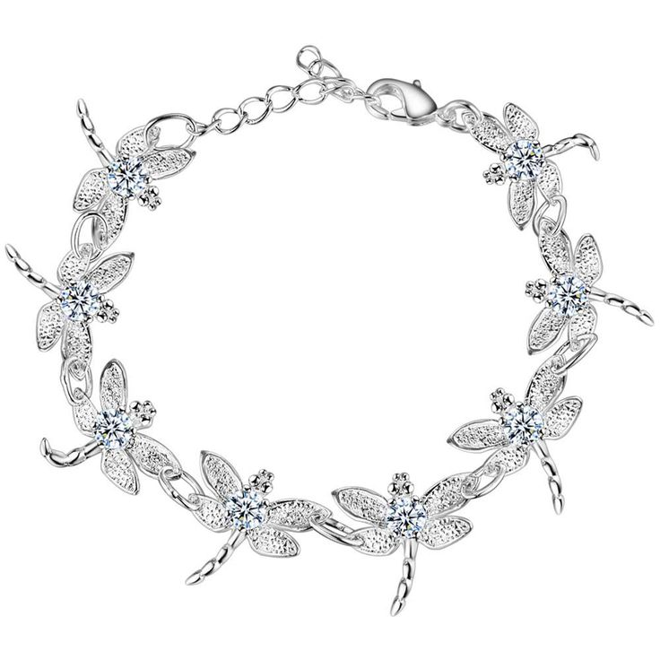 Aliexpress.com : Buy dragonfly fashion Wholesale silver plating bracelet, Silver plated fashion jewelry /MWVUEIME DNKADAJZ from Reliable jewelry findings bracelets suppliers on yinfen guo's store