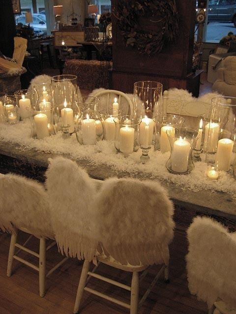 deco table noel les anges