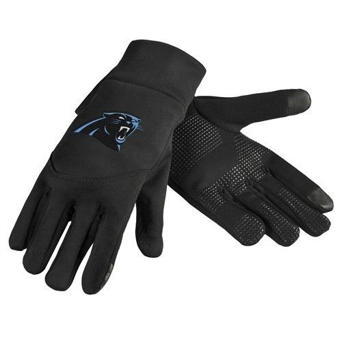 Carolina Panthers Team Logo Technology Touch Texting Gloves