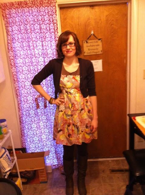 Orange spring dress: Our Fairy Tale blog