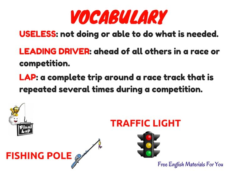 VOCABULARY LIST - episode 6 - English4Gamers - Free English Materials For You - Super Mario Kart (1).jpg