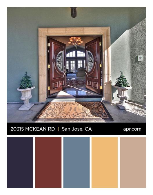 20315 McKean Road, San Jose, CA 95020 color palette. #siliconvalley #frontdoors #sanjose