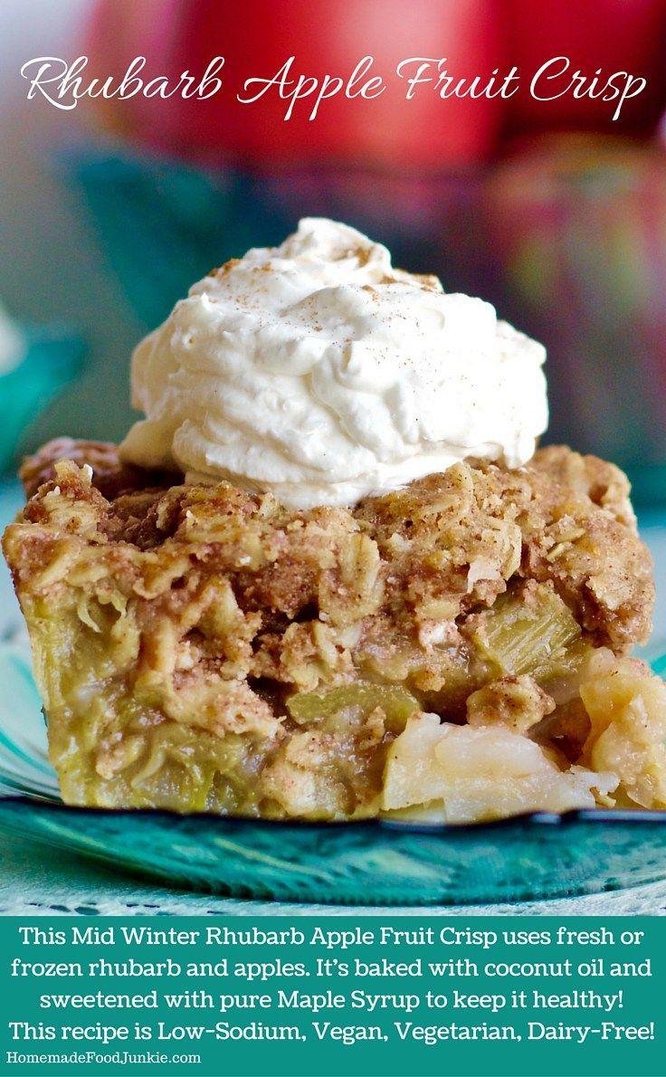 Rhubarb Apple Fruit Crisp a delicious, easy dessert. Chock full of ...